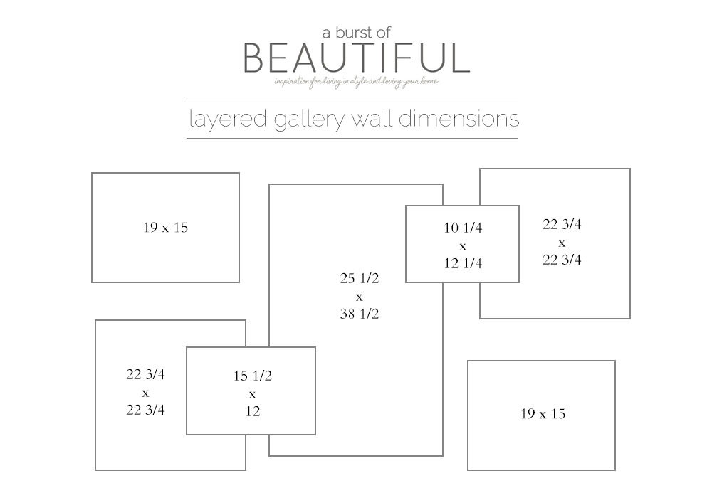 A Burst of Beautiful - Layered Gallery Dimensions
