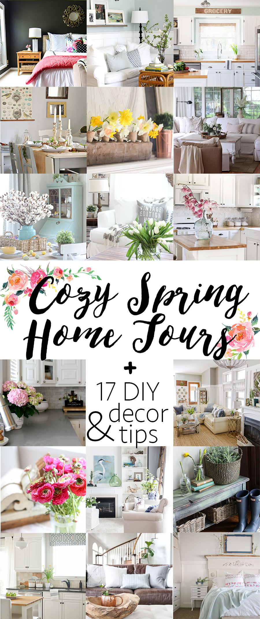 Visit 17 beautiful homes decorated for spring | A Burst of Beautiful