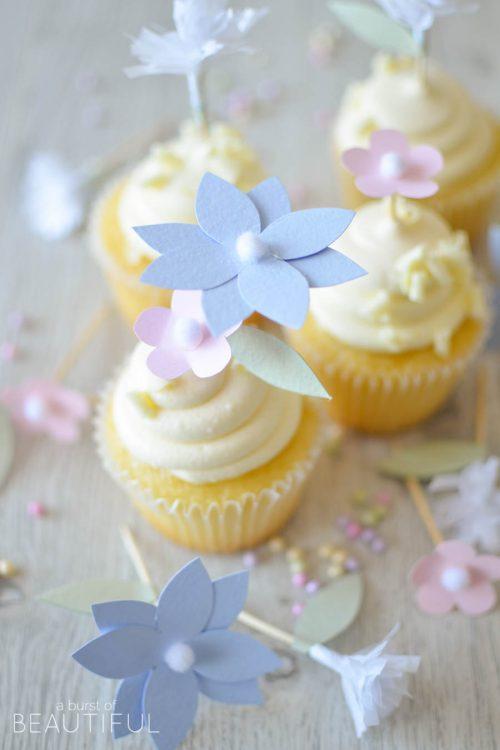 DIY Flower Cupcake Toppers