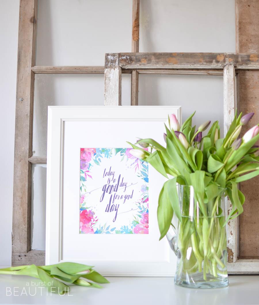 33 Free Spring Printables & Inspiring Vignettes |A Burst of Beautiful