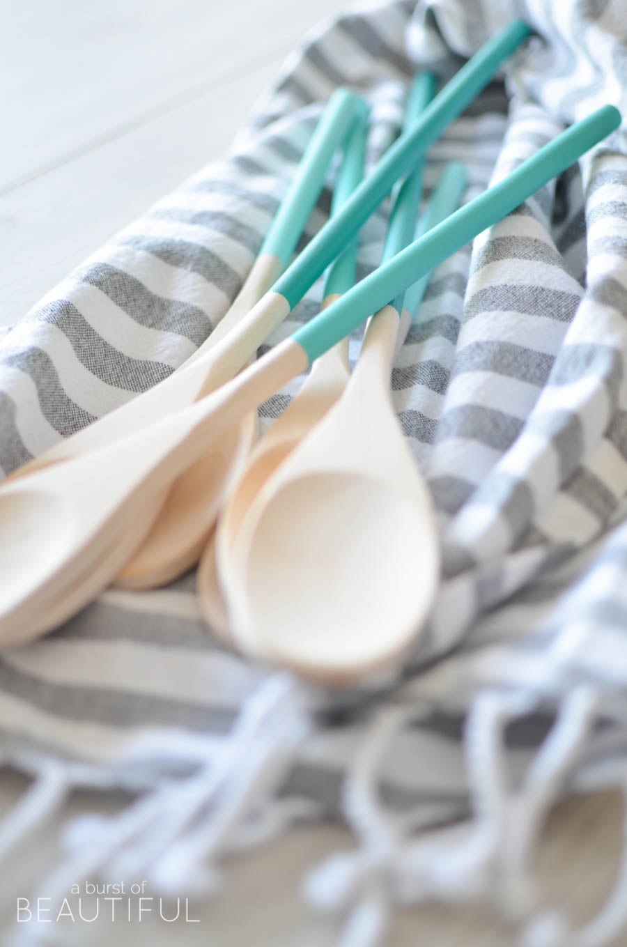 Ombre Painted Wood Spoons are a simple and inexpensive project |A Burst of Beautiful
