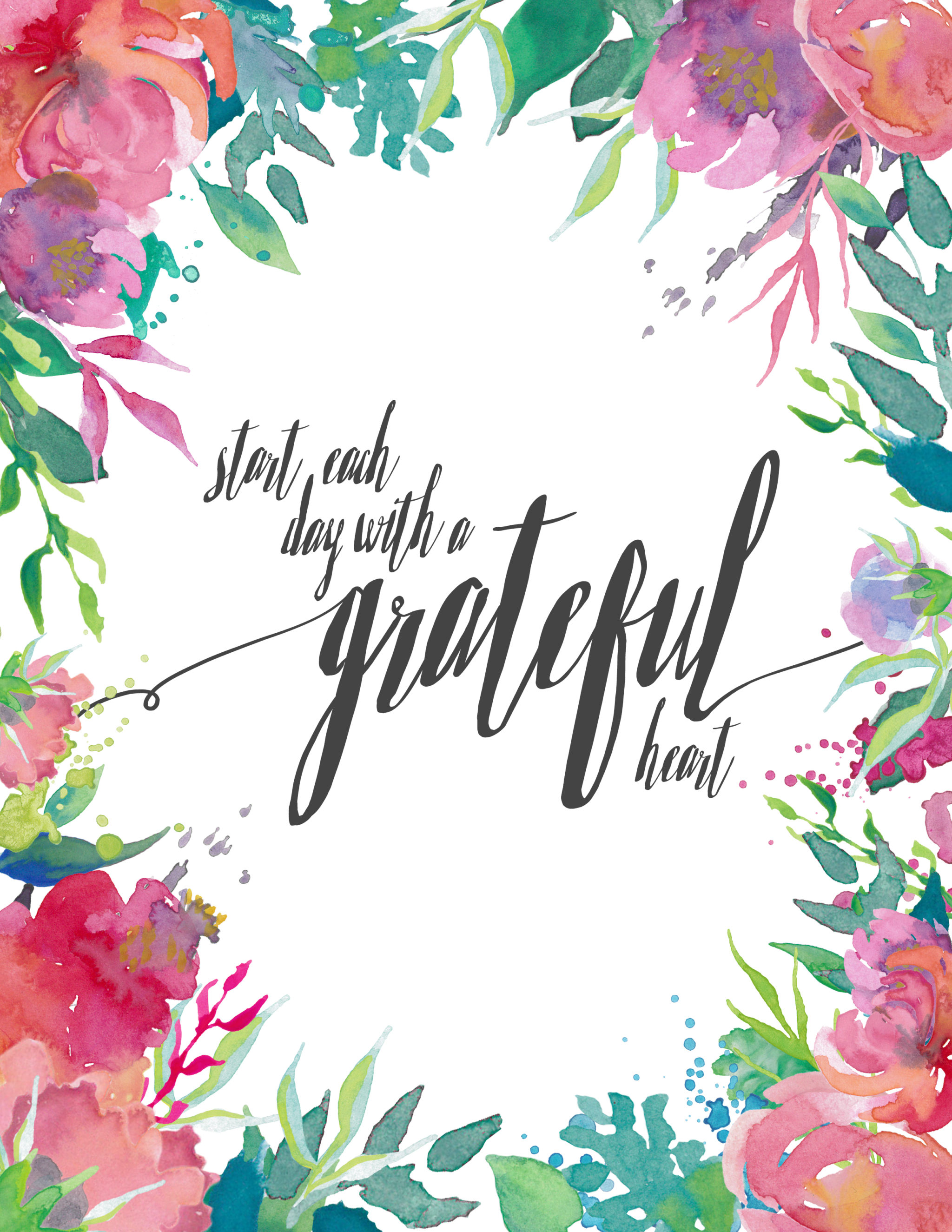 Spring Printable_Start Each Day