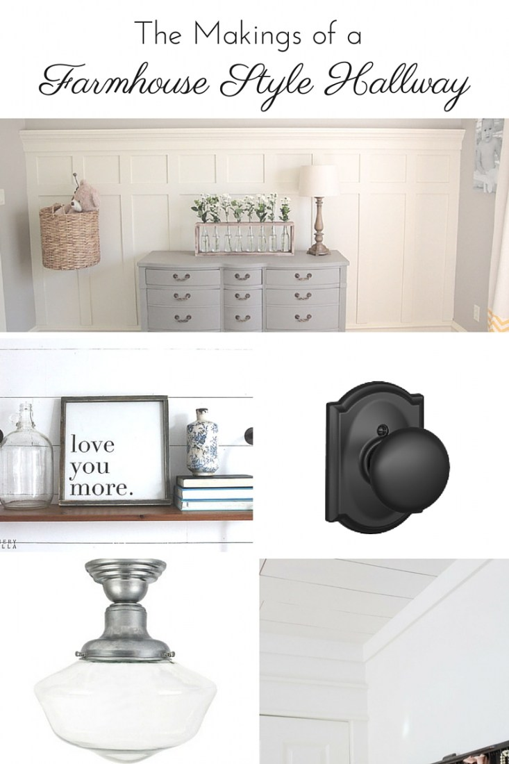 Create Share Inspire Link Party - The Makings of a Farmhouse Style Hallway - Making it in the Mountains