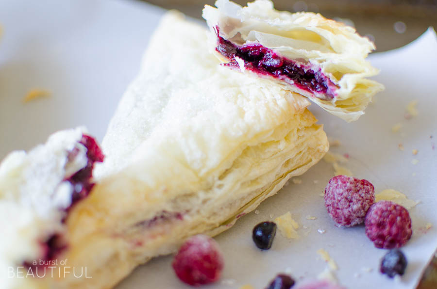 These homemade berry turnovers are a simple and family favorite recipe and taste delicious made with fresh or frozen berries