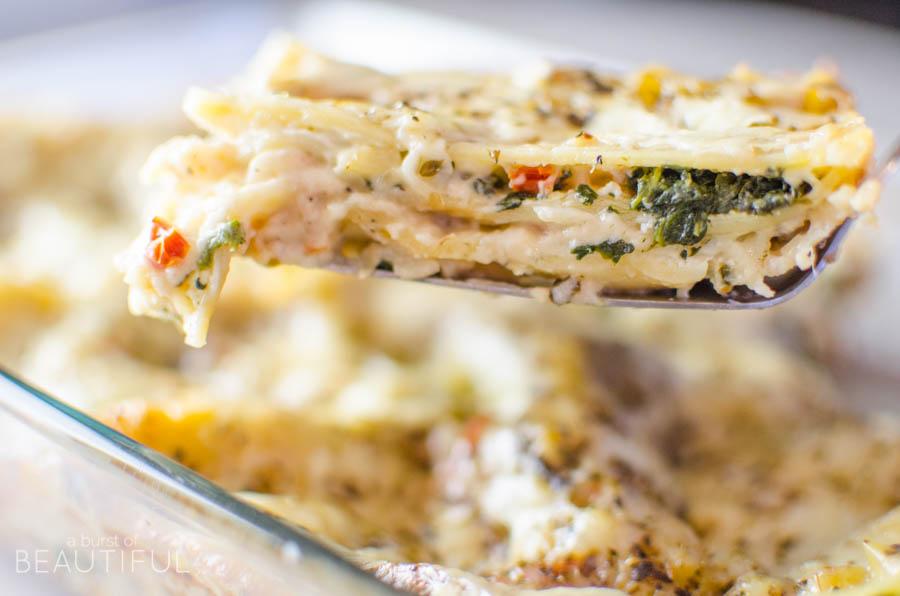 Creamy Portobello & Sundried Tomato Lasagna