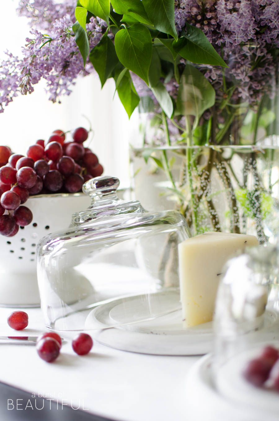 A fresh coat of white paint turn these dated thrift store cheese boards into beautiful covered cheese plates | A Burst of Beautiful