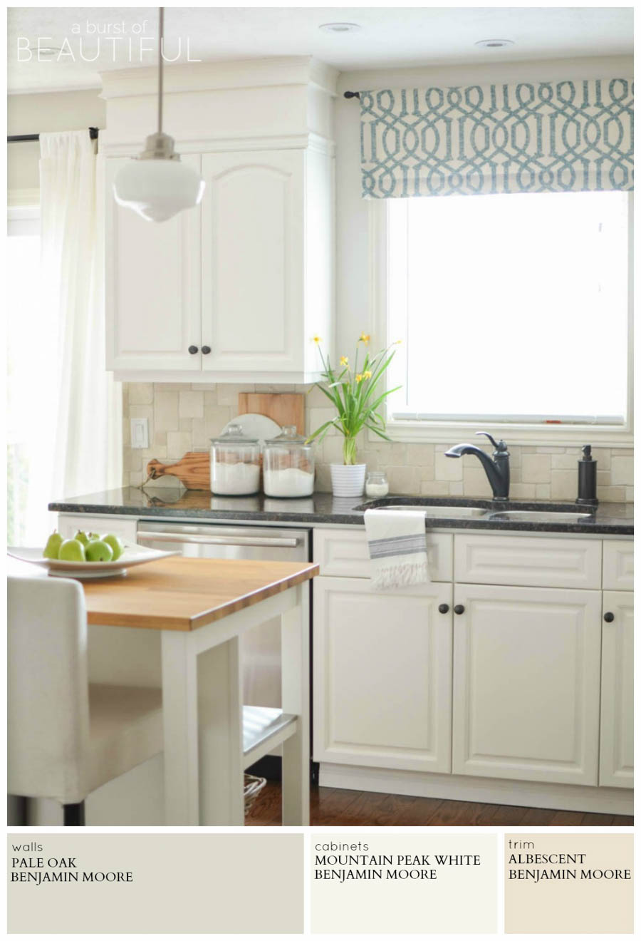 Modern farmhouse neutral paint colors a burst of beautiful for What color to paint kitchen