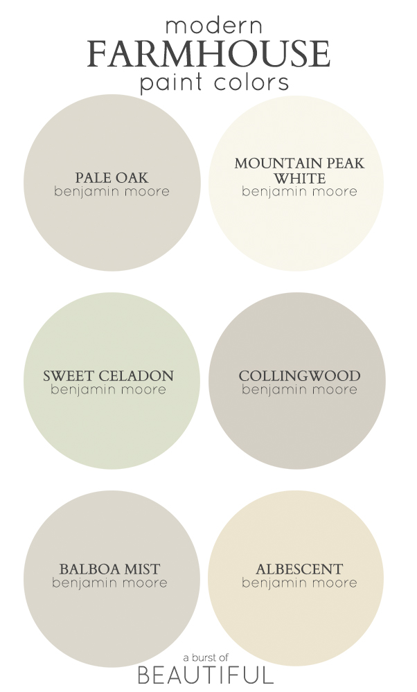 Modern farmhouse neutral paint colors a burst of beautiful for Best light neutral paint