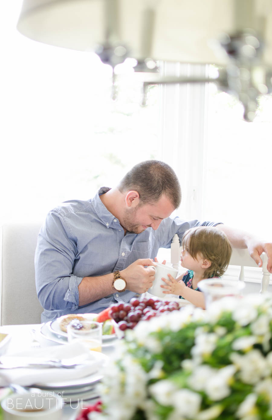 Celebrate Father's Day with a simple brunch and the best Father's Day gift   A Burst of Beautiful