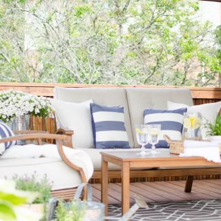 Make the most of your patio, deck or balcony with these easy tips for creating a cozy outdoor living space | A Burst of Beautiful