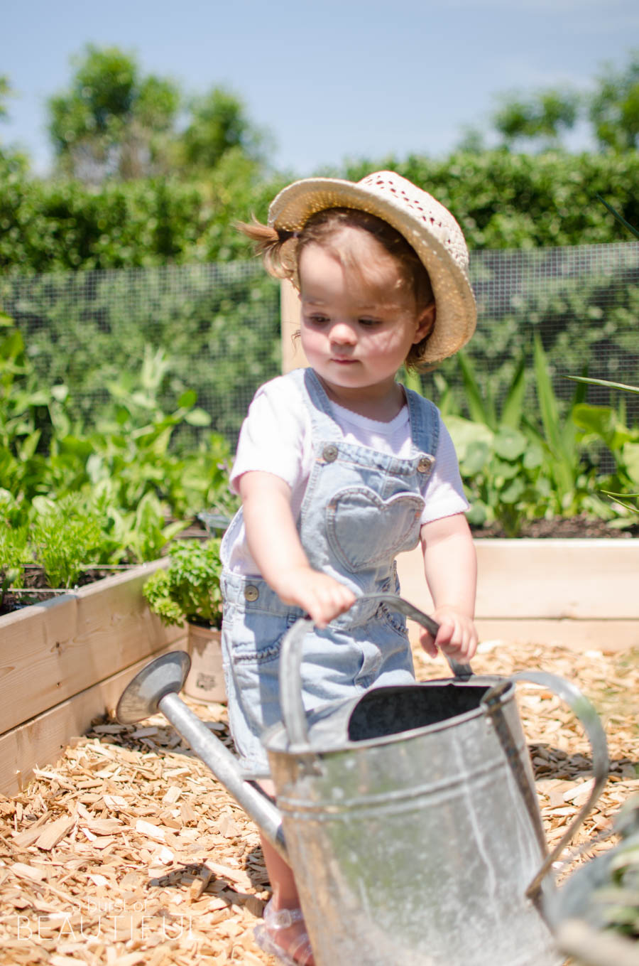 Gardening becomes fun for the whole family with a raised square foot vegetable garden | A Burst of Beautiful