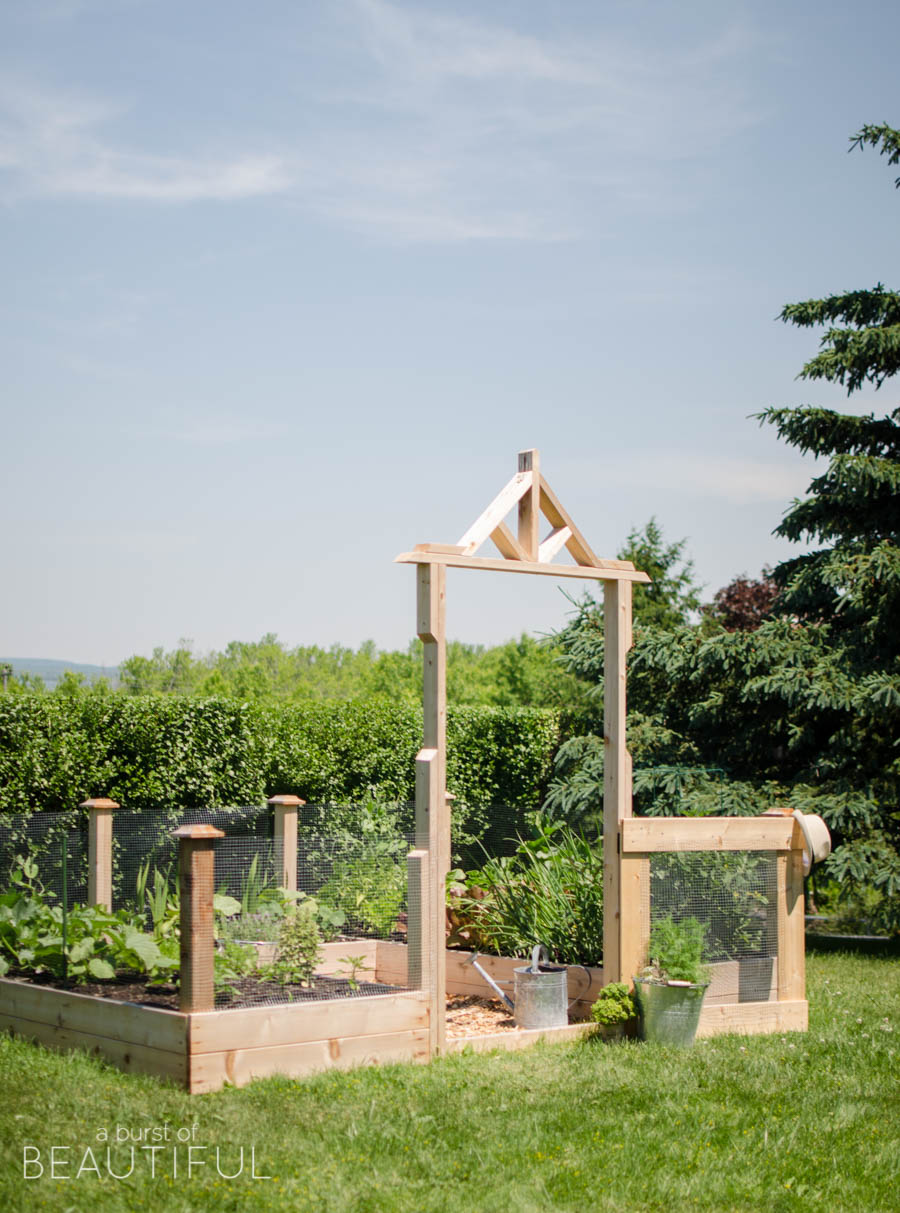 Gardening becomes fun for the whole family with a raised square foot vegetable garden   A Burst of Beautiful