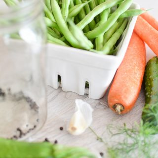 These easy refrigerator pickles and vegetables are a summer time favorite
