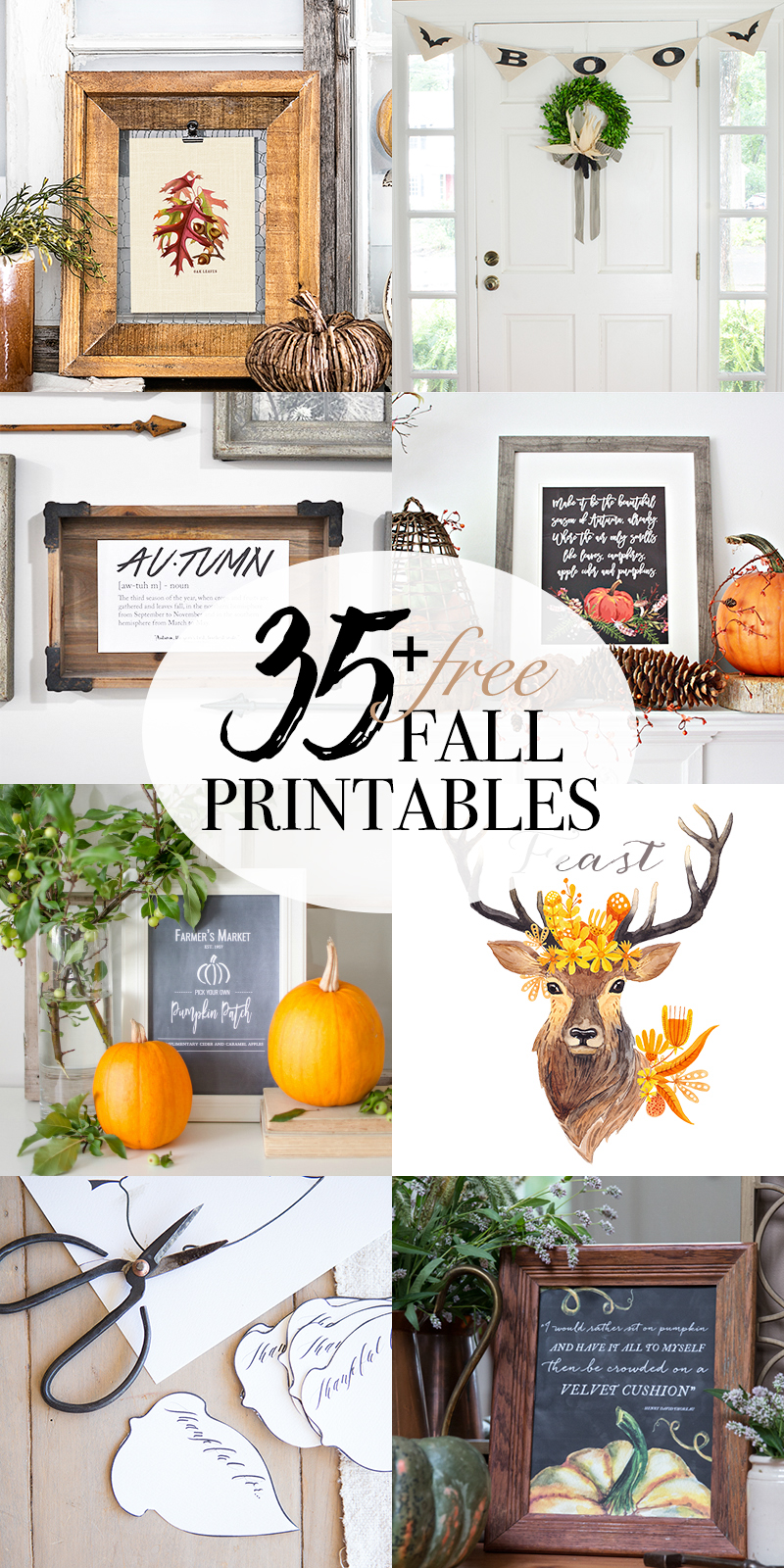 This rustic fall chalkboard printable will inspire thoughts of pumpkins, apple cider and hayrides. Download it for free at www.aburstofbeautiful.com