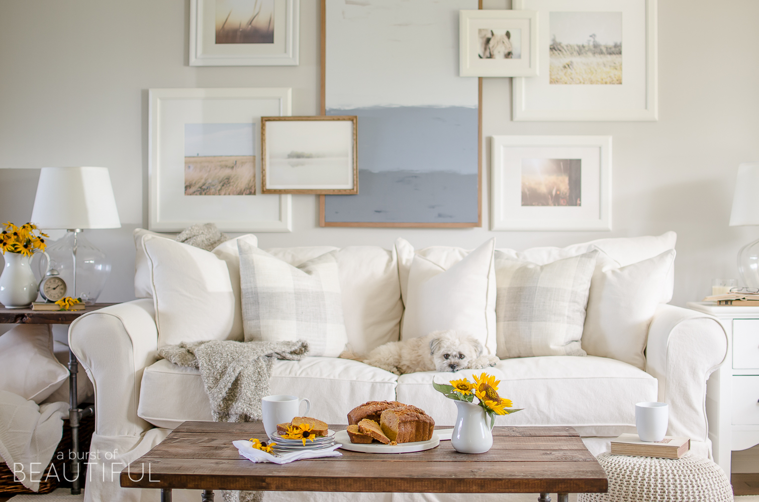 A simple farmhouse decorated with subtle touches of fall