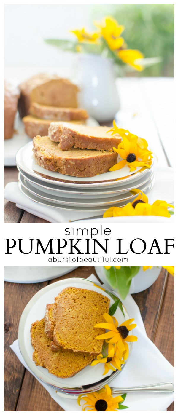 This simple pumpkin loaf is the perfect fall treat