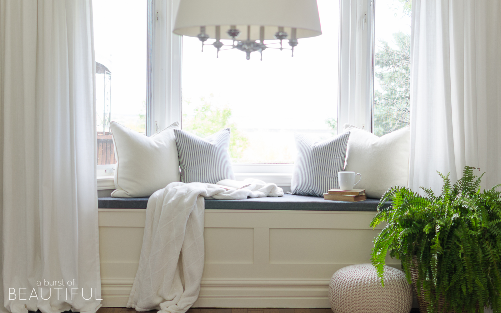 Diy Window Bench With Storage A Burst Of Beautiful