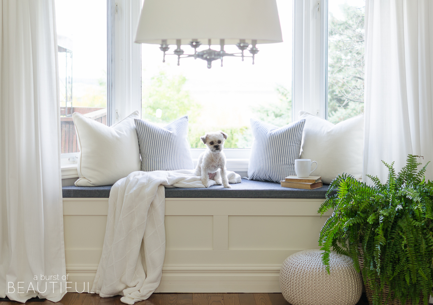 DIY Window Bench with Storage - A Burst of Beautiful
