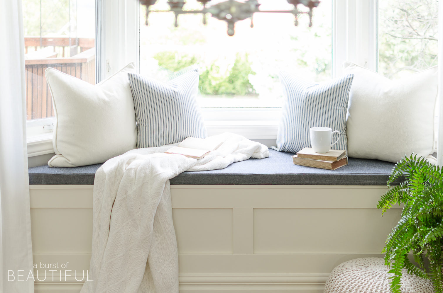 Bedroom Window Bench diy window bench with storage - a burst of beautiful