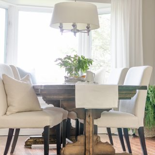Build a beautiful and charming farmhouse dining table with these easy to follow plans