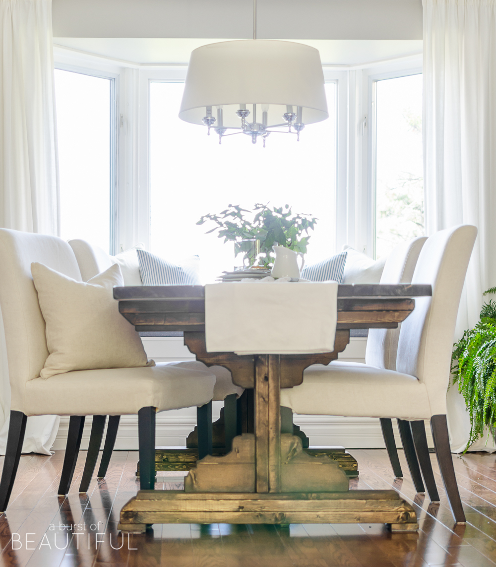 Build A Beautiful DIY Farmhouse Dining Room Table With These Simple Plans From Aburstofbeautiful
