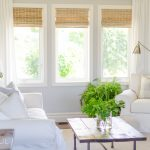 Woven Wood Shades in our Living Room