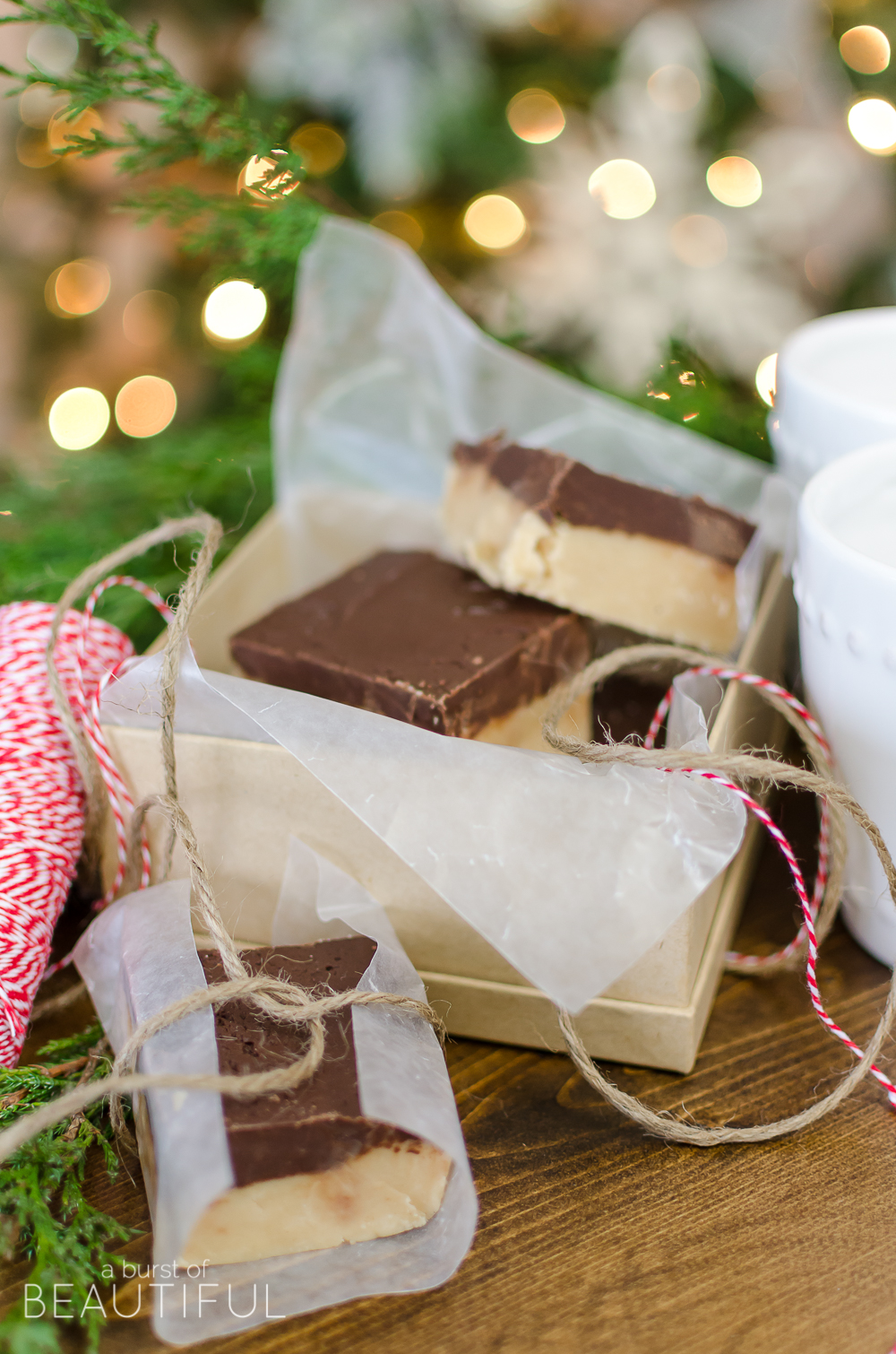 This rich and creamy Chocolate Peanut Butter Fudge will melt in your mouth. Wrap it up as a thoughtful and sweet holiday gift this year.