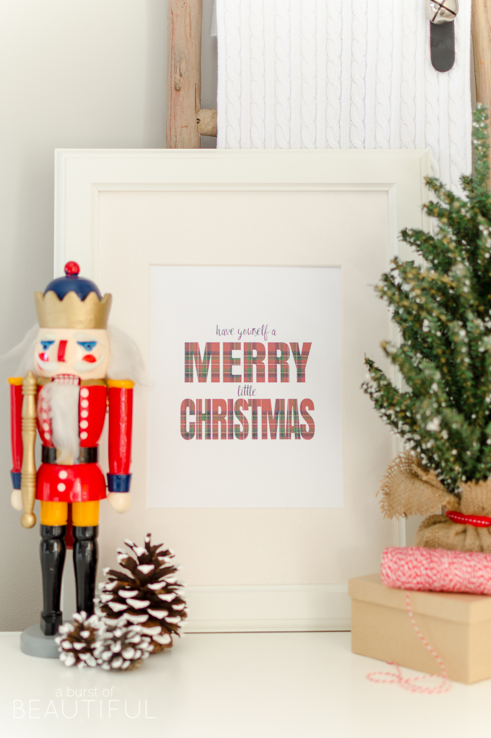 Download this Have Yourself a Merry Little Christmas printable to add a touch of holiday charm to your home during the Christmas season.