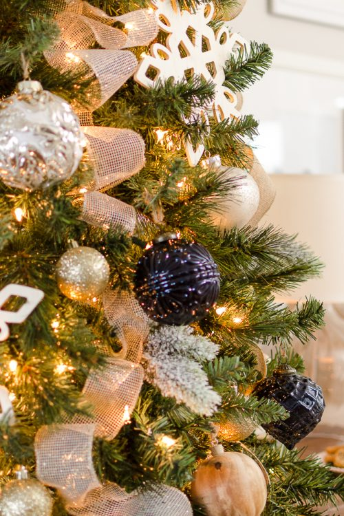 Navy and Gold Christmas Tree