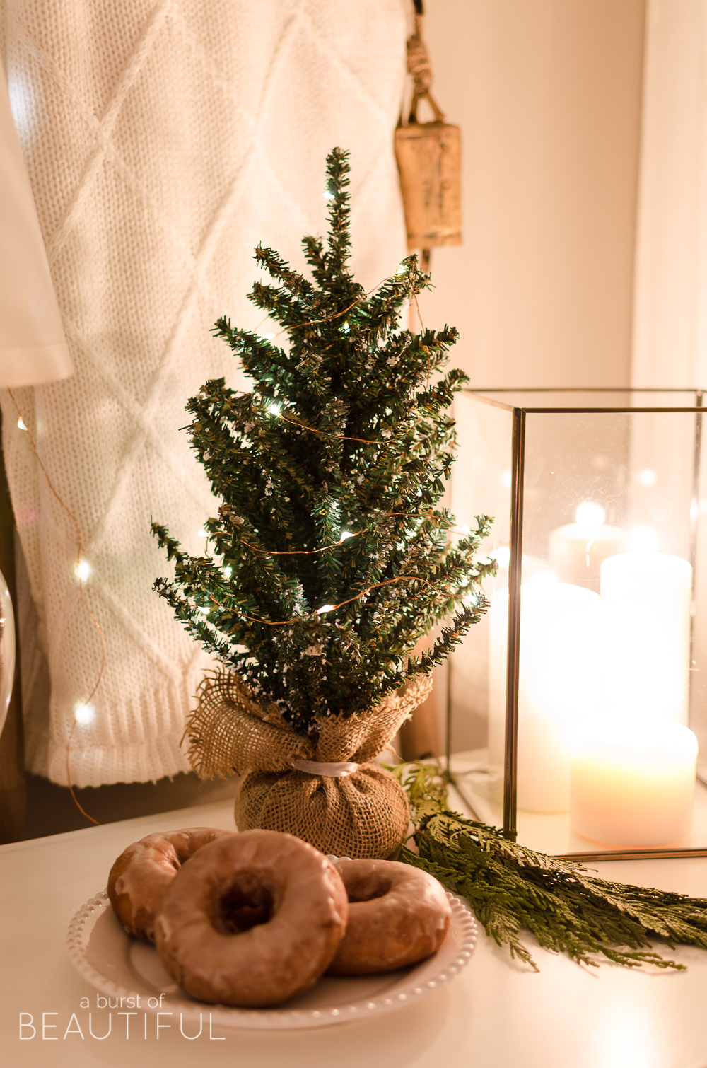 A modern farmhouse is aglow in this enchanting Christmas Night Tour.