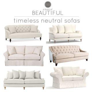 Timeless Neutral Sofas