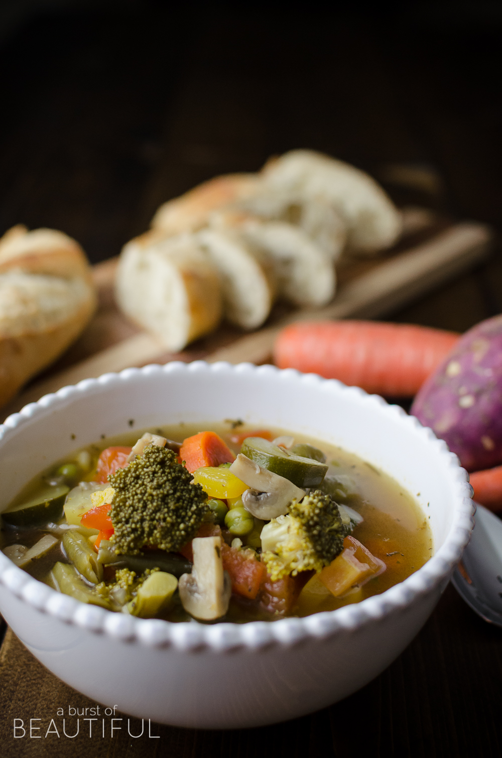 Hearty and healthy vegetable soup will leave you feeling nourished and warmed.