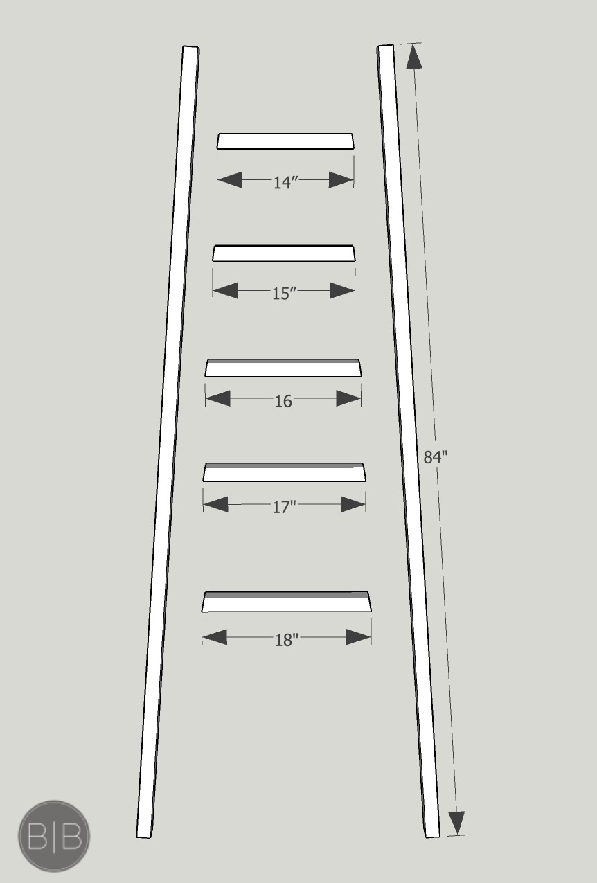Simple Diy Angled Blanket Ladder Tutorial A Burst Of