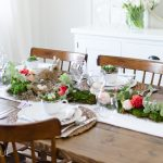 Floral and Moss Easter Tablescape