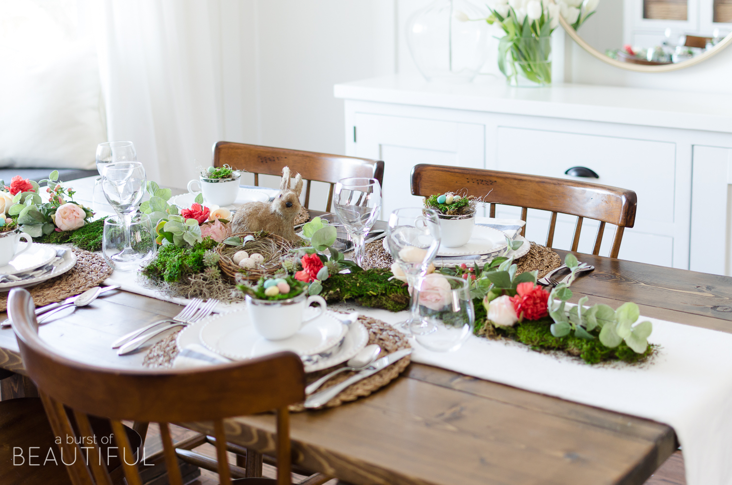 Turn Living Room Into Bedroom Floral And Moss Easter Tablescape A Burst Of Beautiful