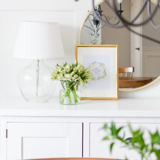 Decorate your home for spring with these 30+ free spring printables and beautiful vignettes.