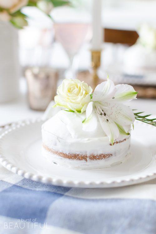 Mini Spring Naked Cakes | Almond Orange Cake Recipe