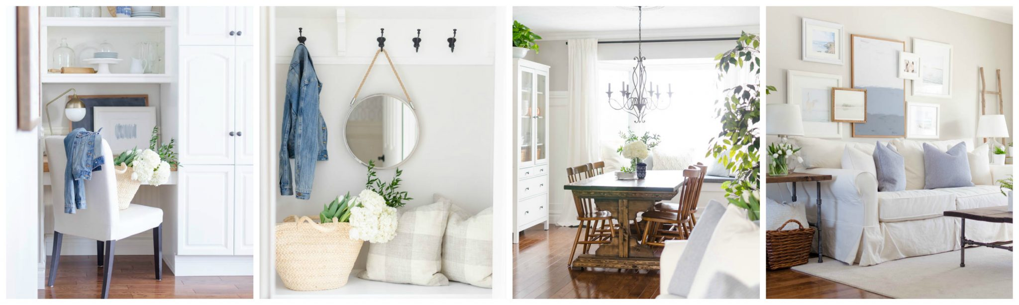 A bright and inviting spring home tour of this modern farmhouse