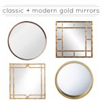 Classic & Modern Gold Mirrors