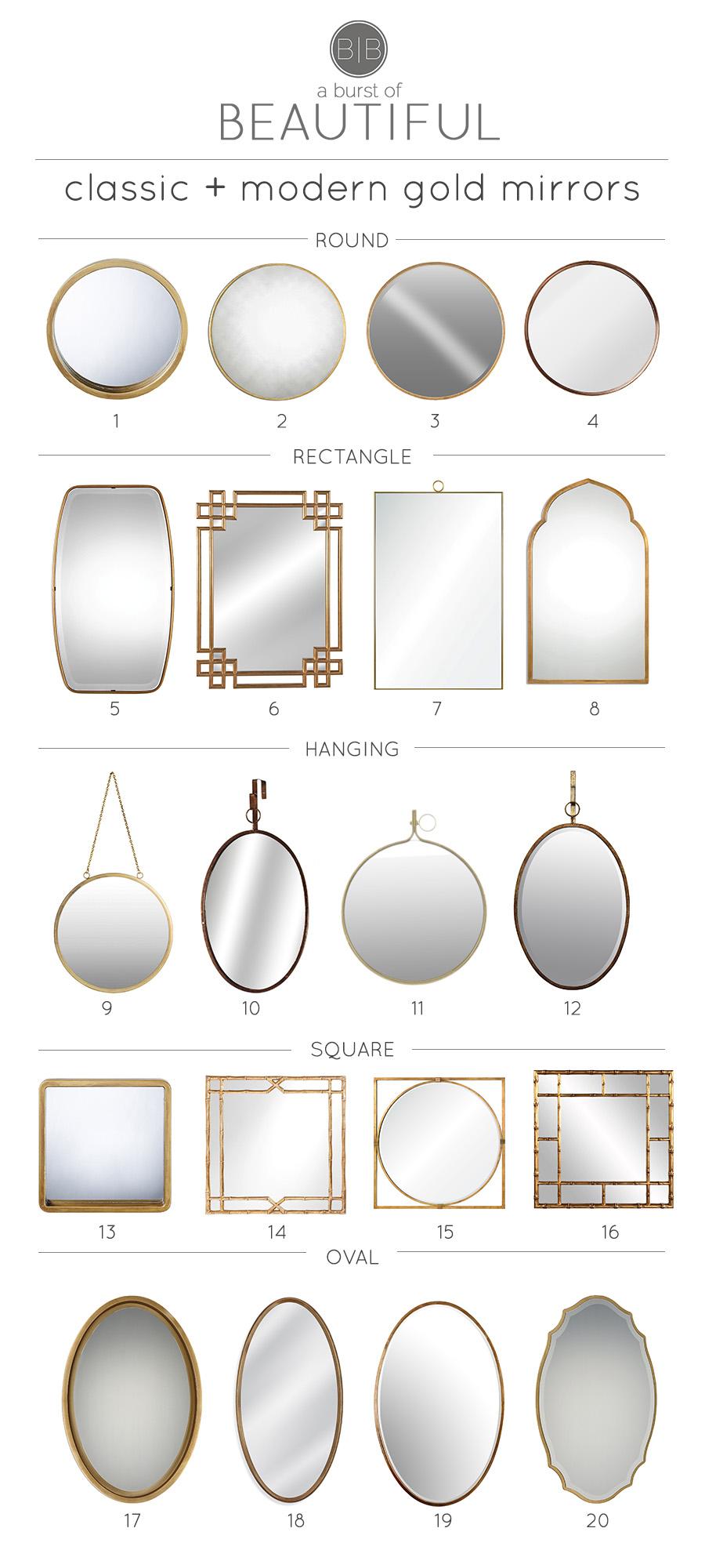 Classic & Modern Gold Mirrors