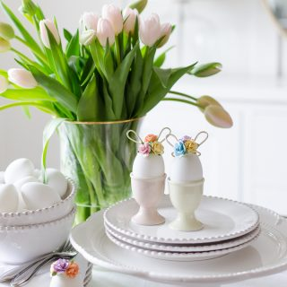 Easter Egg Decorating Idea | Mini Floral Bunny Ears