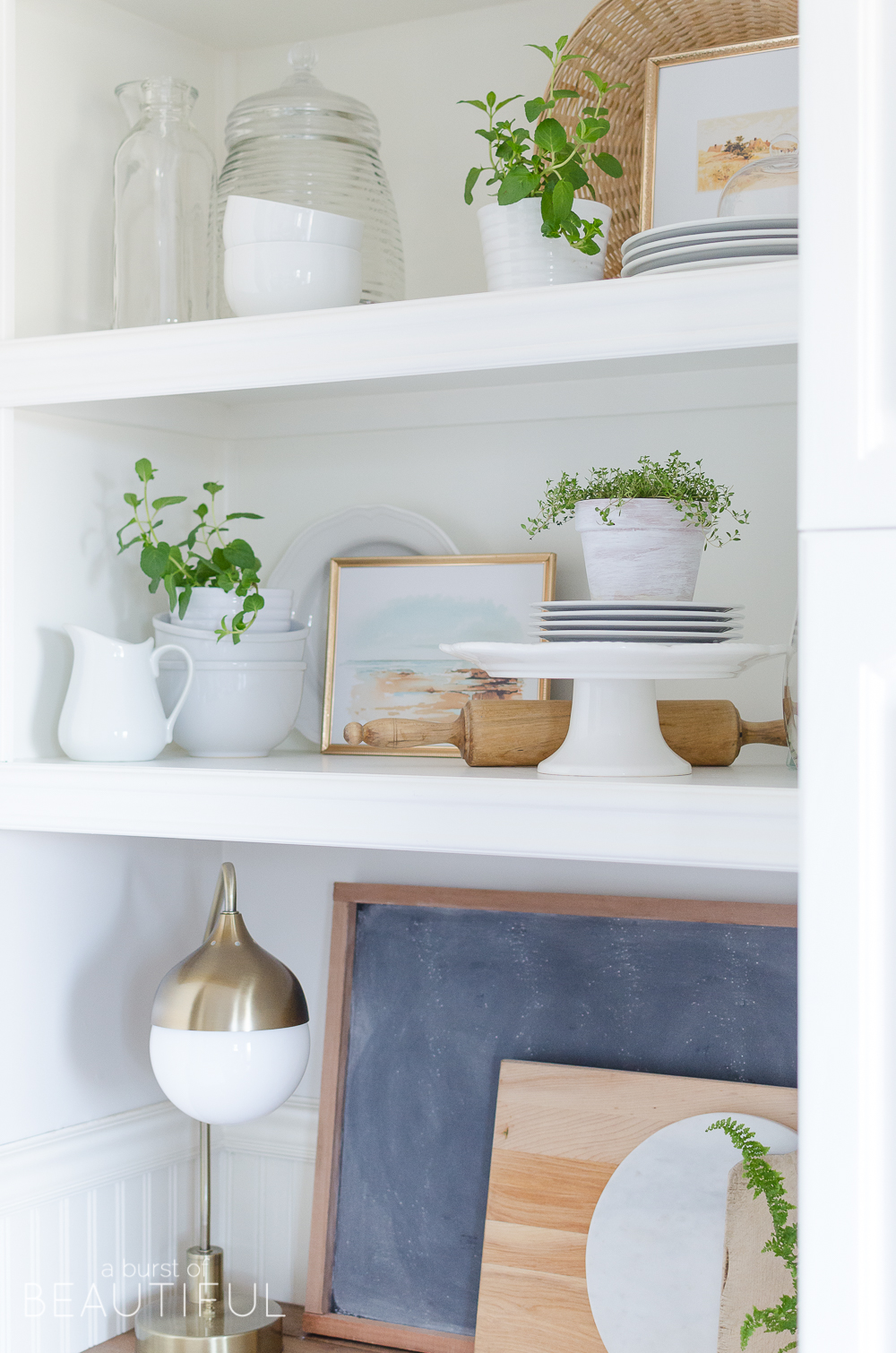 Open Shelving In Kitchen How To Style Open Shelving In The Kitchen A Burst Of Beautiful
