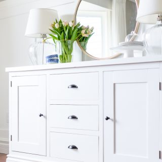 Simple Modern Farmhouse Sideboard Buffet | Free Plans