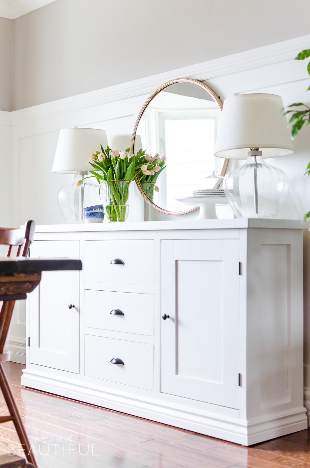 Building a modern farmhouse sideboard buffet is