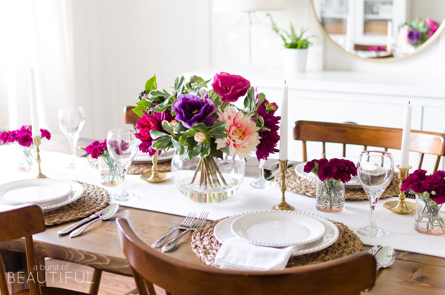 A Simple And Vibrant Mother S Day Table Setting Nick Alicia