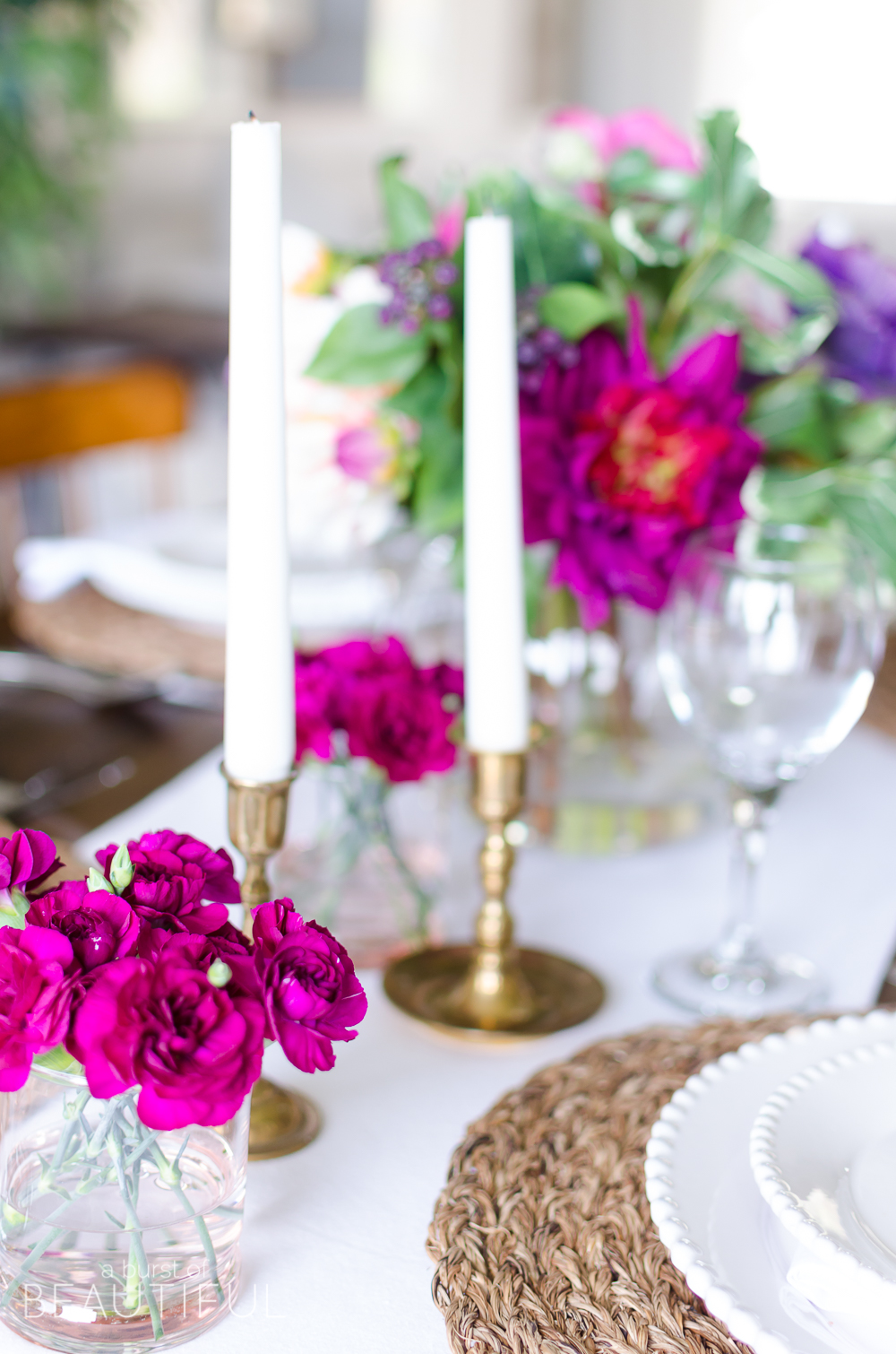 Celebrate with a simple and vibrant Mother's Day table setting