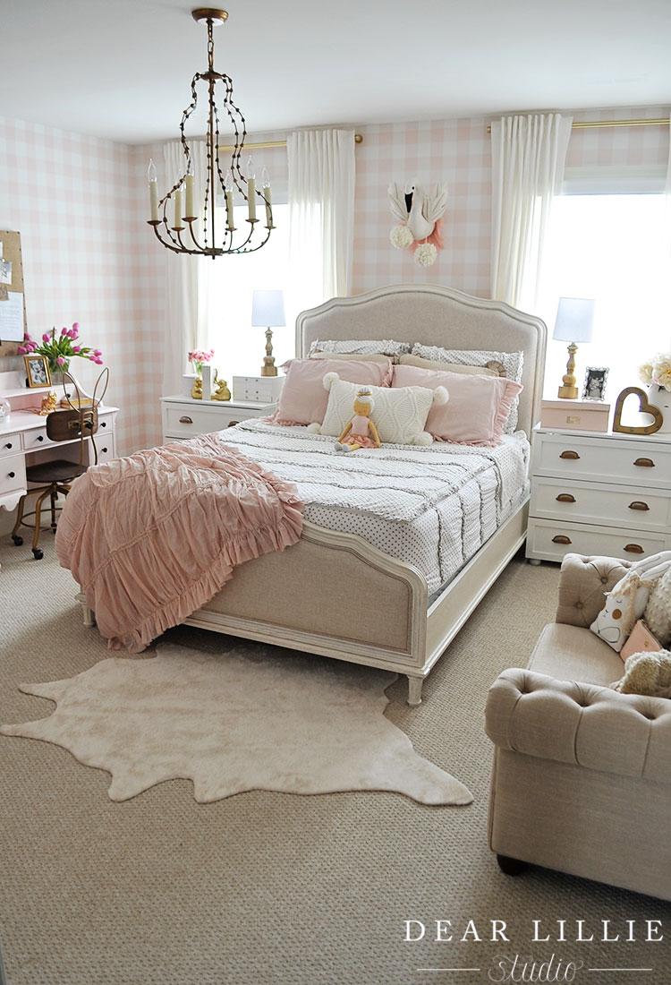 Sweet & Feminine Bedroom Inspiration for Girls - A Burst ... on Beautiful Room Design For Girl  id=73419