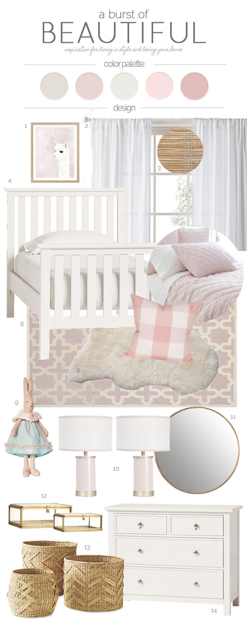 Sweet and Whimsical Toddler Bedroom | Design Plan