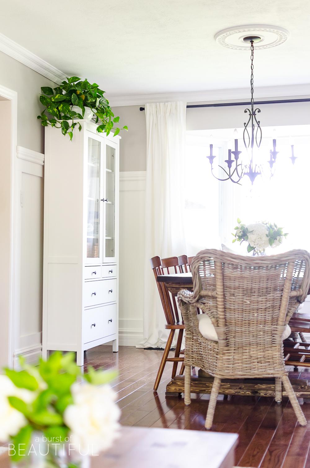 Summer Home Tour | Modern Farmhouse Living & Dining Room