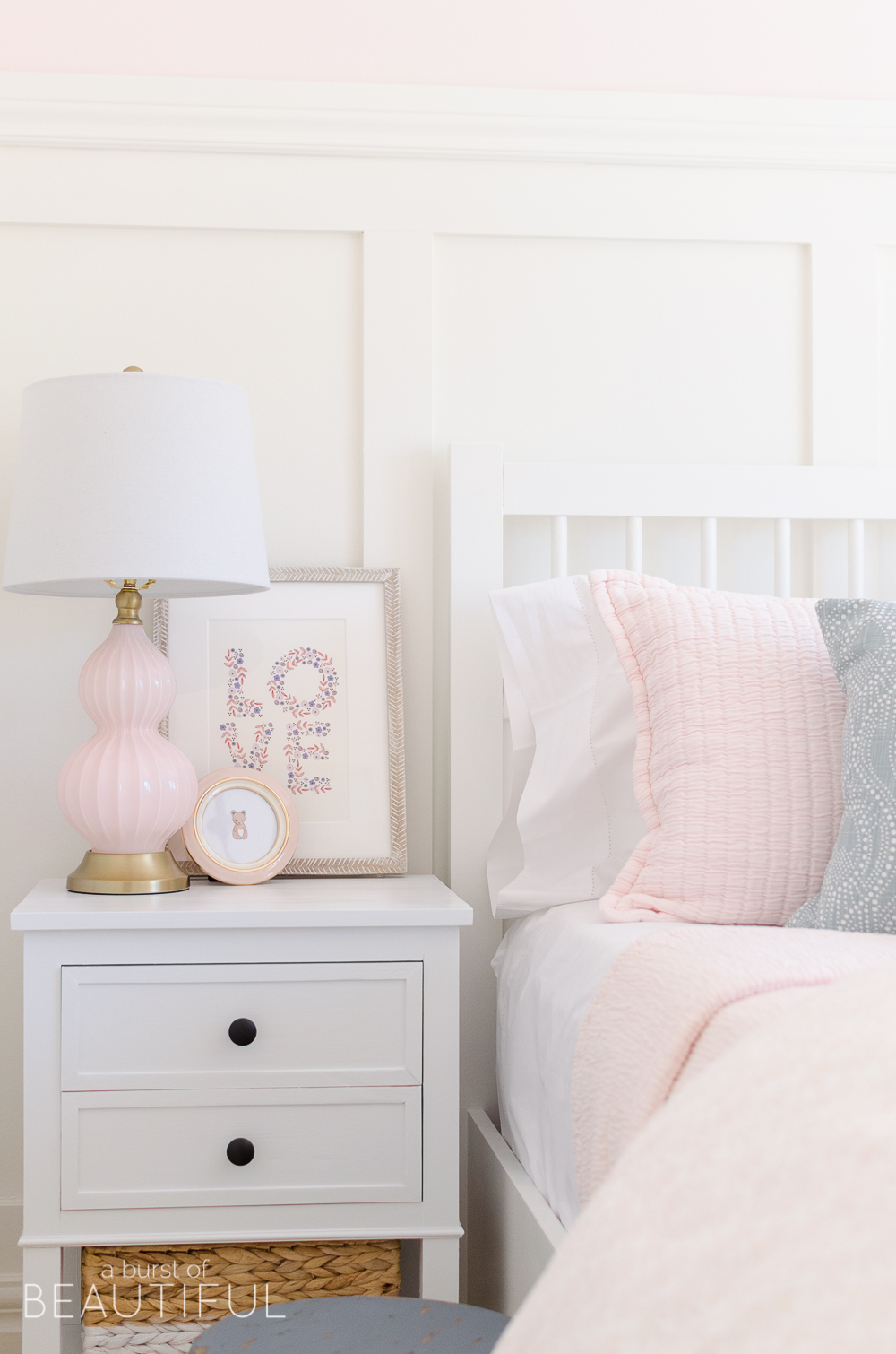 This sweet toddler girl's pink bedroom will inspire your design and decor for your little one!